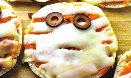 Mini pizzas para Halloween
