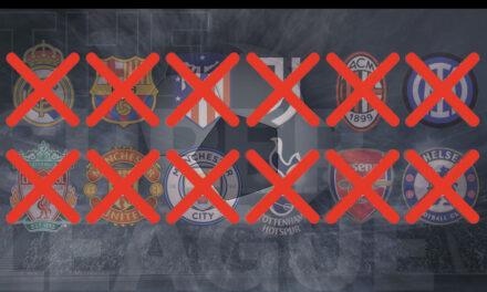 Por amenazas y cruces de palabras muere la Superliga europea