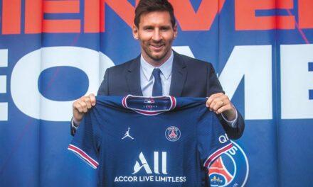La presentación de Lionel Messi con el PSG