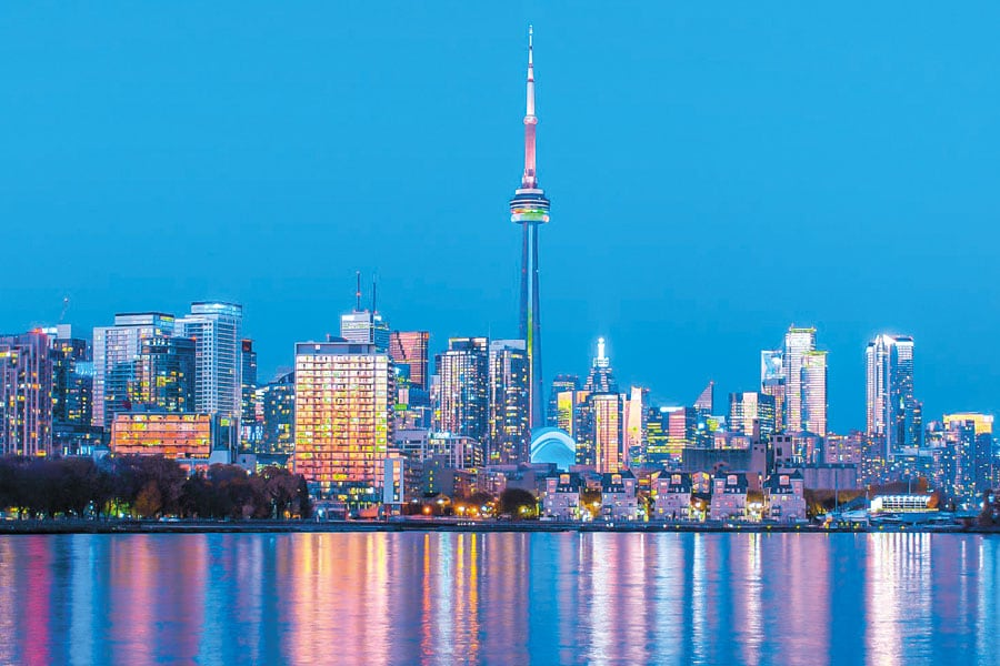 La gran metrópolis de Canadá Toronto